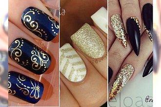 Gold nails - postaw na luksusowy manicure, jeśli nie lubisz nosić biżuterii!