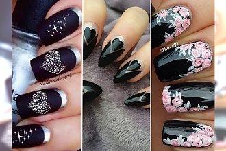 Ożywiamy czarny kolor! Ponad 30 propozycji na stylowy, ciemny manicure.