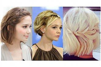 20 letnich warkoczy na krótkich włosach - Fryzury na każdą okazję