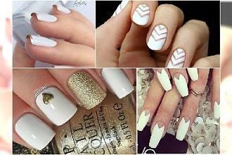 Biały manicure - eleganckie wzorki na paznokcie do ślubu, na wesele i na szczególne okazje