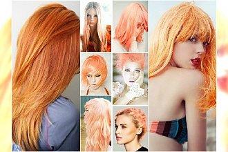 Nowe, modne kolory włosów do wypróbowania: mandarynka i brzoskwinia