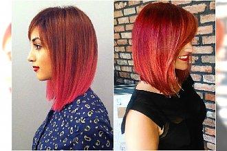 Koloryzacyjny HIT: miadziono-różowe ombre! Modny kolor włosów dla kochających nowe trendy