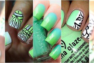 Pistacjowe paznokcie - śliczne wzorki, które podbiją letni manicure