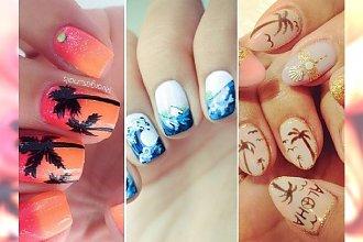 Palmy, rozgwiazdy, muszelki... TOP 15 uroczych wzorków na letni manicure!
