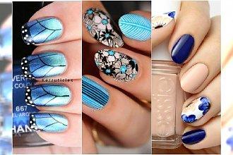 Niebieski manicure tak piękny, że zechcecie go mieć! 20 ślicznych wzorków na lato