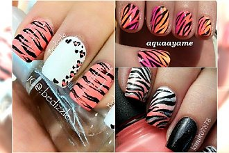 Tygrysie paski na paznokciach - hot trend na lato
