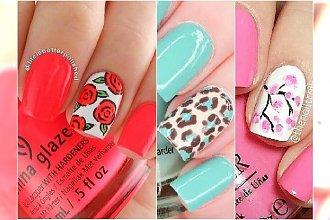 Wzorki na palec serdeczny. 20 super pomysłów na letni manicure