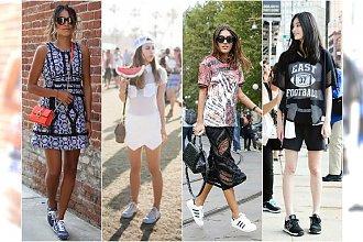 Sportowe obuwie w nowej odsłonie! TOP 15 stylizacji Street Style z sportowymi butami.