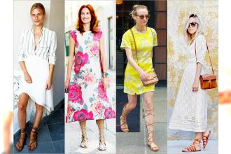 HOT: Najlepsze stylizacje do sandalków-gladiatorek - Inspiracje Street Style