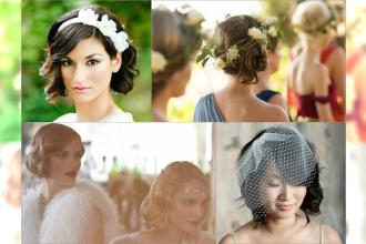 Czarujące ślubne fryzury dla krótkich włosów - Galeria modnych uczesań na 2015 rok