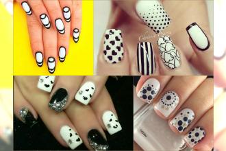 Nowoczesne manicure Black&White na lato. Wyróżniaj się spośród kolorowych paznokci!