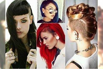 Wygolone fryzury dla długich i półdługich włosów.