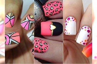 Manicure z różowymi akcentami. Wyrafinowane wzorki dla zaawansowanych