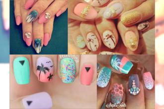 Tropikalne paznokcie z motywem palm. Wybierz manicure, który przybliży Cię do ciepłych krajów.