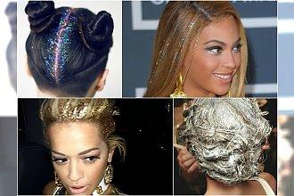 HOT: Mieniące się na słońcu fryzury z brokatem są hitem tego wśród gwiazd!