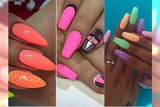 Neonowy manicure na lato - najlepsze pomysły z Waszych galerii