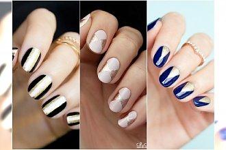 Paznokcie ze złotem - eleganckie wzorki na paznokcie na specjalne okazje