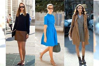 Stylizacje z sukienkami na powrót do szkoły. Modne outfity zgodne z trendami 2015