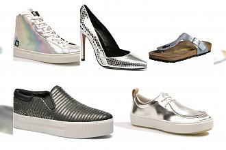 Metaliczne buty na sezon jesień/zima 2015. Dodaj połysku swoim stylizacjom!