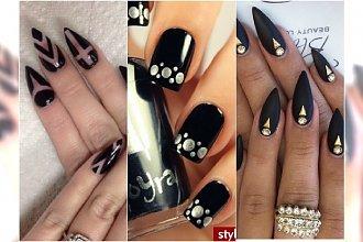20 pomysłów na elegancki czarny manicure. Wasze zdjęcia!