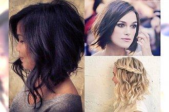 Średnie i krótkie fryzury A-line. Zobacz TOP asymetryczne cięcia!