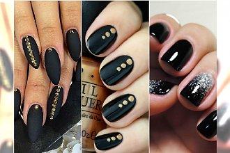 Czarny manicure - elegancki i frapujący. 20 super pomysłów na czarne paznokcie