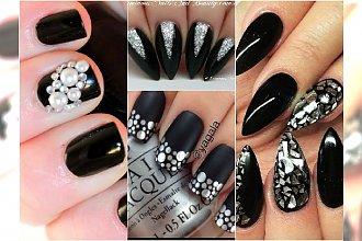 Czarny manicure - arystokrata wśród jesiennych trendów. Wyjątkowe wzory!