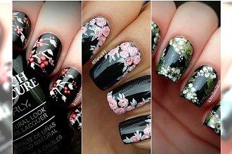 Paznokcie jak dzieła sztuki! Śliczne wzorki z kwiatami, którym się nie oprzecie