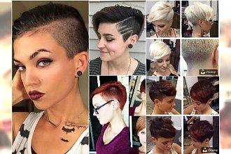 Krótkie fryzury 2016 - modne propozycje undercut