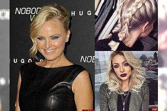 Modne fryzurki z półdługich blond włosów - HOT galeria