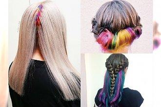Trendy 2016: Secret Rainbow nowym hitem! Sekretna koloryzacja włosów idealna do szkoły i pracy
