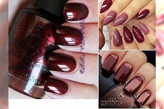 Nieziemsko stylowy manicure w kolorze czerwonego wina