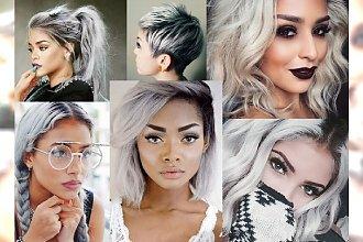 HIT! Silver hair na wszystkie możliwe sposoby: pixie cut, bob oraz długie włosy