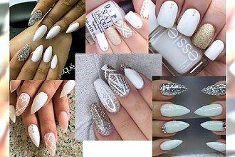 Bardzo elegancki, biały manicure dla stylowych kobiet [DUŻO ZDJĘĆ]