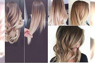 Delikatne ombre w kolorach od ciemnego do jasnego blondu