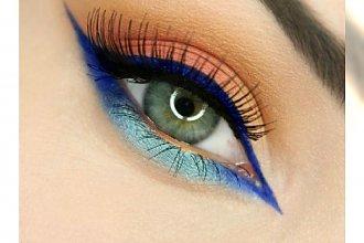 Kolorowy makijaż dla jasnych oczu - super propozycje dla niebieskich i szarych tęczówek