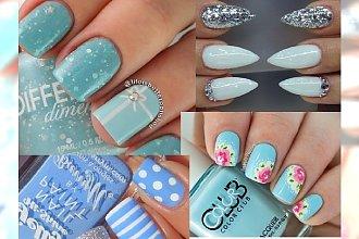Baby blue nails - pudrowy błękit w sam raz na wiosenne dni!