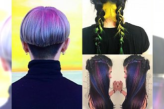 Najpiękniejsze Rainbow Hair na  brunetkach - Ta galeria udowadnia, że posiadaczki ciemnych włosów wyglądają genialnie w tęczowej koloryzacji!