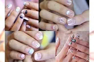 Negative space manicure, jakich jeszcze nie widziałyście. Dajcie się oczarować letnim propozycjom