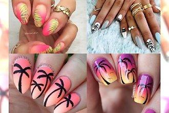 Tropikalny manicure z motywem palm - zaplanuj swoje wakacje!
