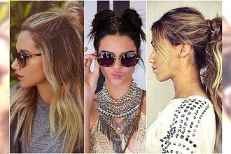 Fryzury na lato: half top knot, kucyk, warkocze boho. 20 pomysłów na modne uczesanie