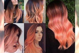 Peach ombre - soczysta, brzoskwiniowa koloryzacja na lato!
