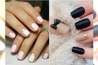 Prosty manicure na lato - neutralne kolory, łatwe wzory. Spróbujecie?