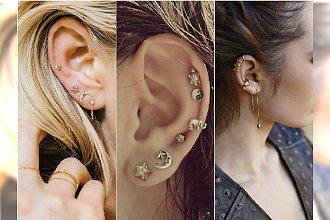 Modny piercing ucha - dużo kolczyków i earcuffów. Tak ozdabiamy uszy w tym roku!