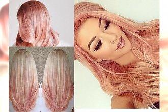 Koloryzacja rose gold dla blondynek