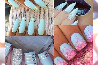 Baby blue manicure na różne sposoby - znadź swój ulubiony!