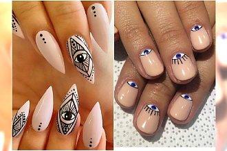 Złe oko - modny motyw w manicure. 20 najlepszych inspiracji z Instagrama