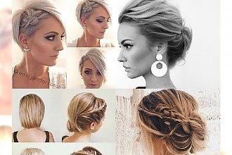 Upięcia wykonane z włosów do ramion i krótszych - stylowe inspiracje