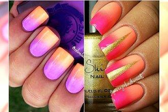 Neonowe ombre na paznokciach - piękne wzory, których sobie nie odmówisz!