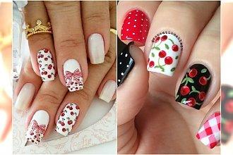 Słodki manicure na lato: wisienki, groszki i paseczki. Wypróbujcie te wzory!